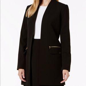 Calvin Klein open- font long jacket